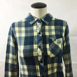P27 Rails Blue Yellow Plaid Shirt